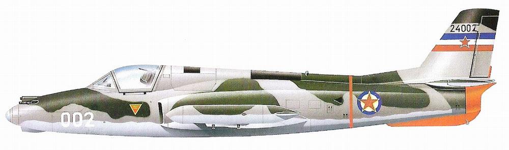 Profil couleur du Soko J-21 Jastreb