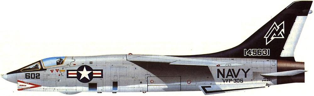 Profil couleur du Vought (L.T.V.) RF-8 Crusader