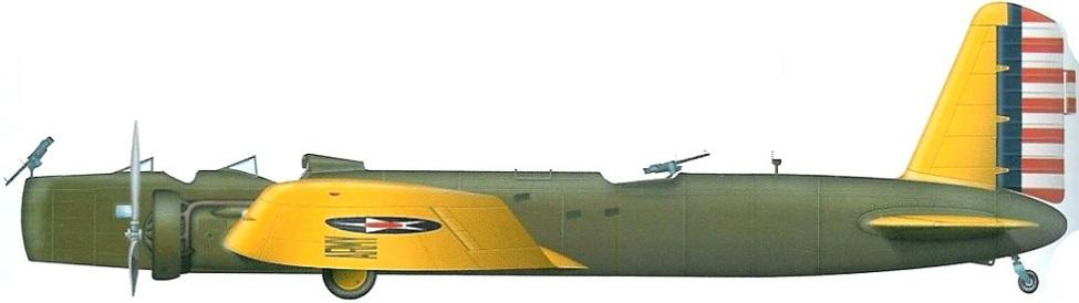 Profil couleur du Boeing Y1B-9 Death Angel