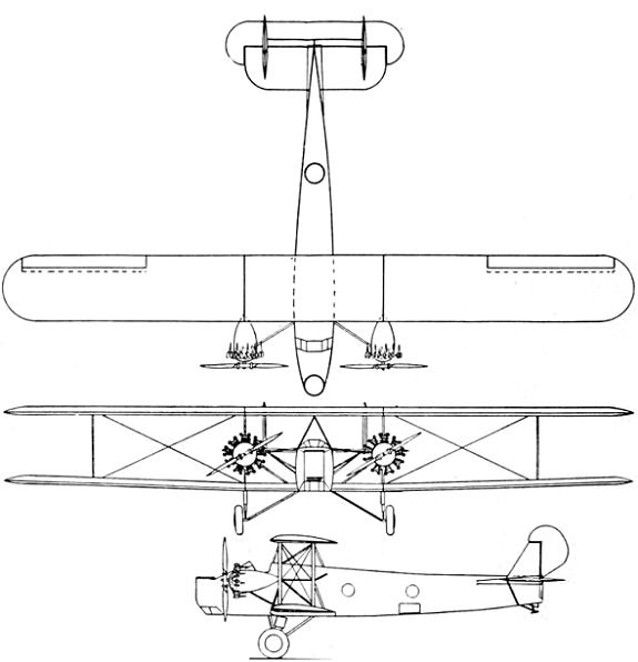 Plan 3 vues du Keystone LB-5 Pirate / LB-6 Panther