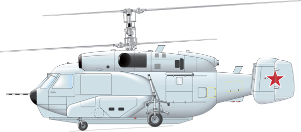 Profil couleur du Kamov Ka-31 'Helix-D'