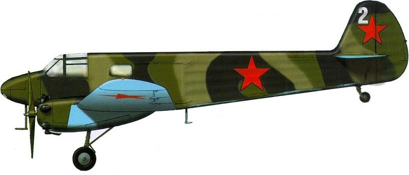 Profil couleur du Yakovlev Yak-6 'Crib'