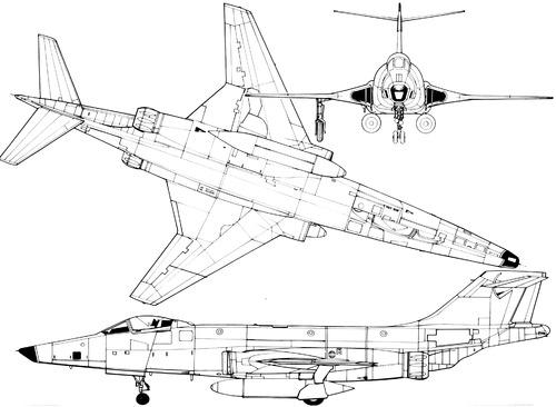 Plan 3 vues du McDonnell RF-101 Voodoo