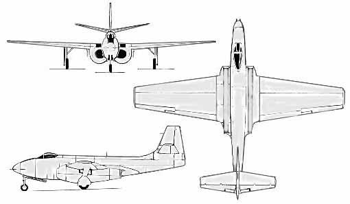 Plan 3 vues du Bell XP-83