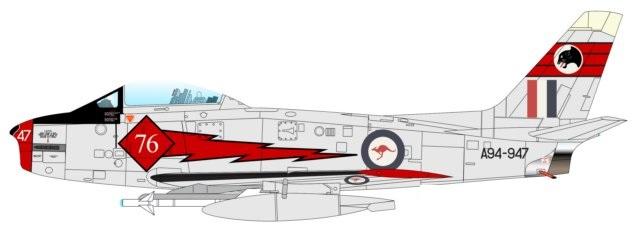 Profil couleur du Commonwealth CA-27 Avon Sabre