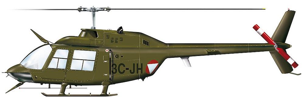 Profil couleur du Bell 206 Jet Ranger