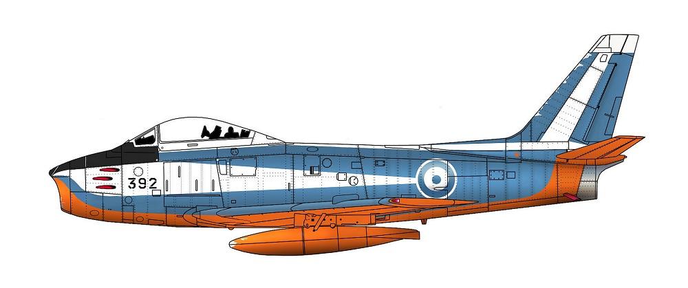 Profil couleur du Canadair CL-13 Sabre