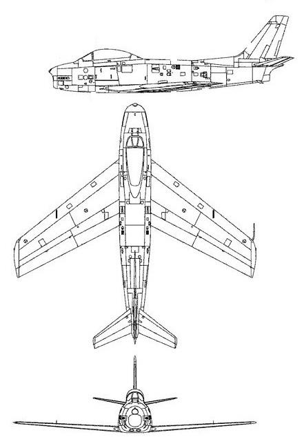 Plan 3 vues du Commonwealth CA-27 Avon Sabre