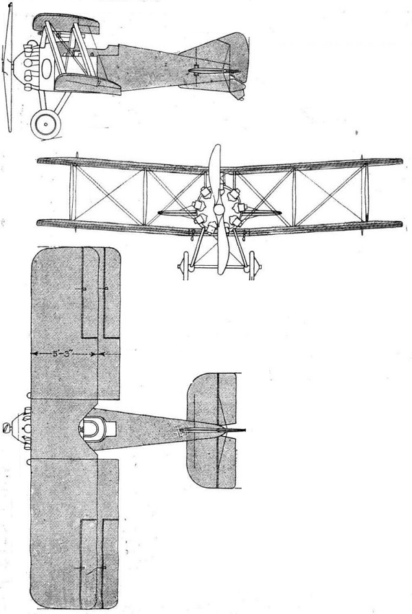 Plan 3 vues du Gloster Nighthawk / Nightjar