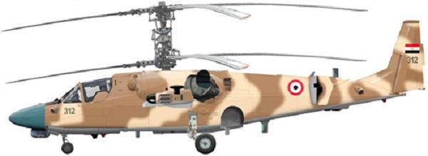 Profil couleur du Kamov Ka-52 Alligator 'Hokum-B'