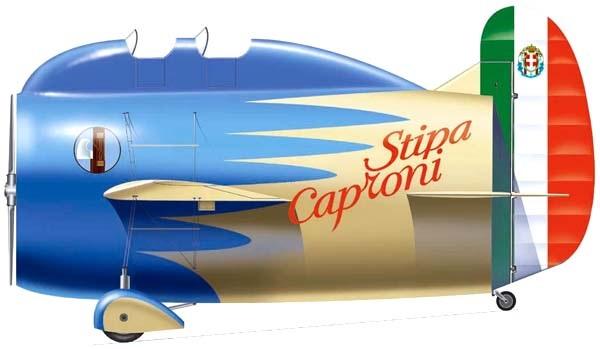 Profil couleur du Caproni Stipa