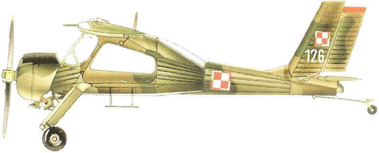 Profil couleur du P.Z.L. PZL-104 Wilga