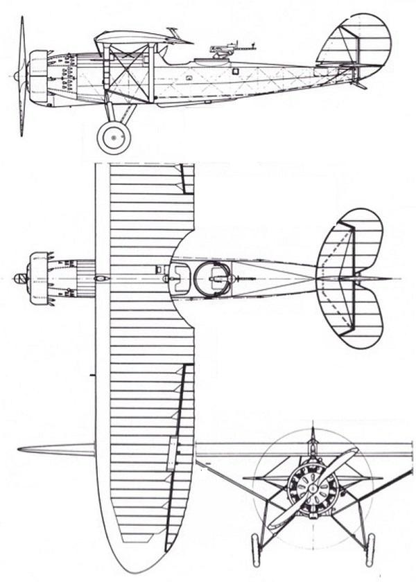 Plan 3 vues du Plage & Laskiewicz R.XIII
