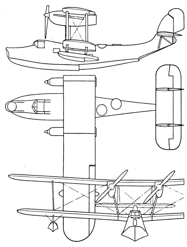 Plan 3 vues du Supermarine Scapa