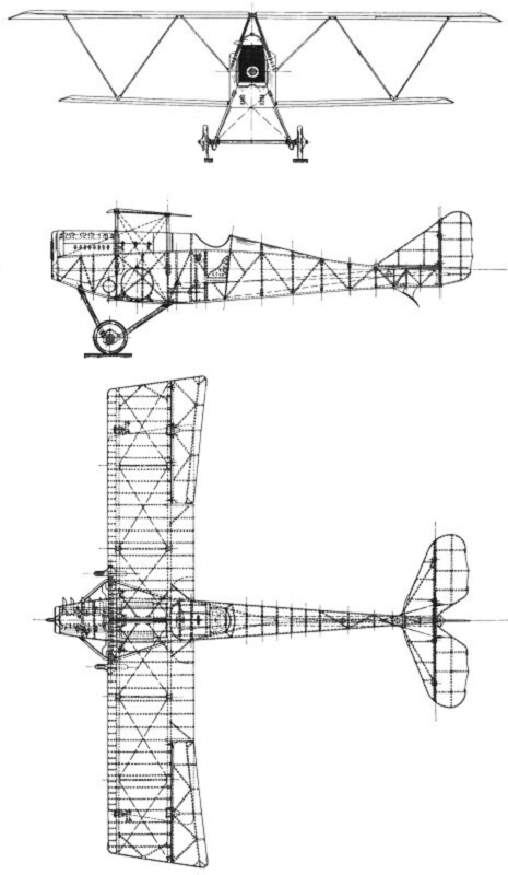 Plan 3 vues du Ansaldo SVA