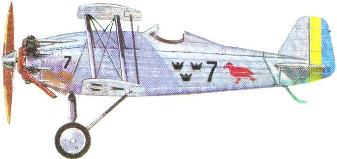 Profil couleur du Svenska Aero J6 Jaktfalken