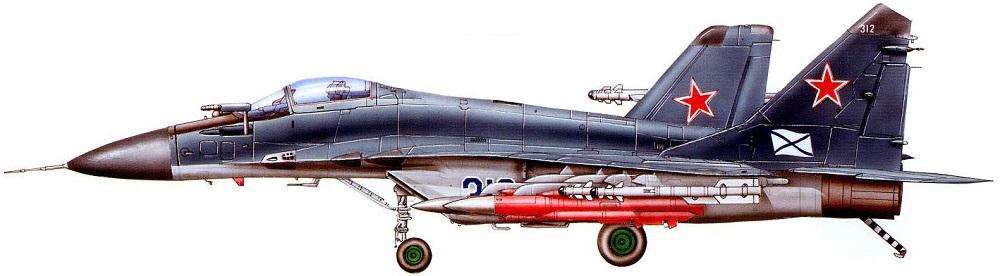 Profil couleur du Mikoyan MiG-29K 'Fulcrum-D'