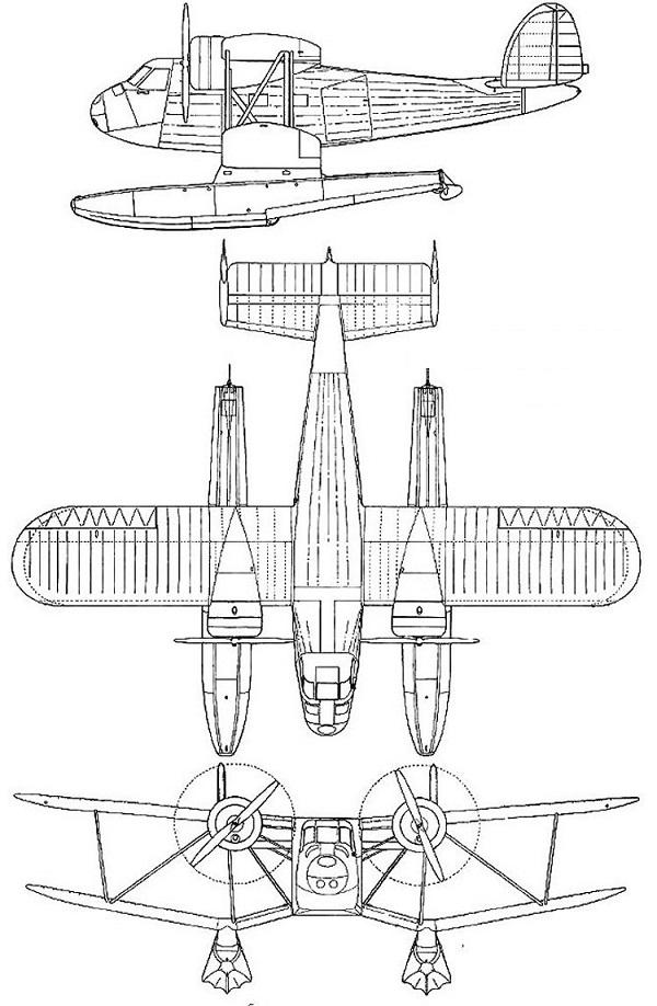 Plan 3 vues du Fleet 50 Freighter