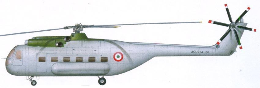 Profil couleur du Agusta A-101