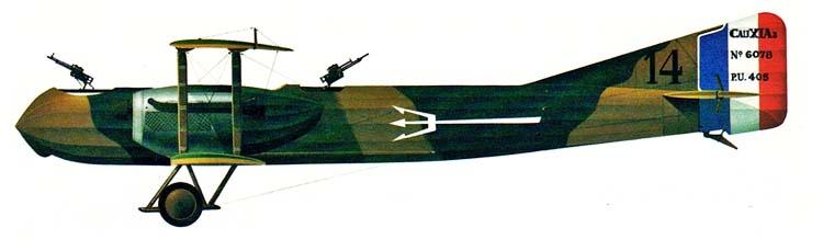 Profil couleur du Caudron R.11