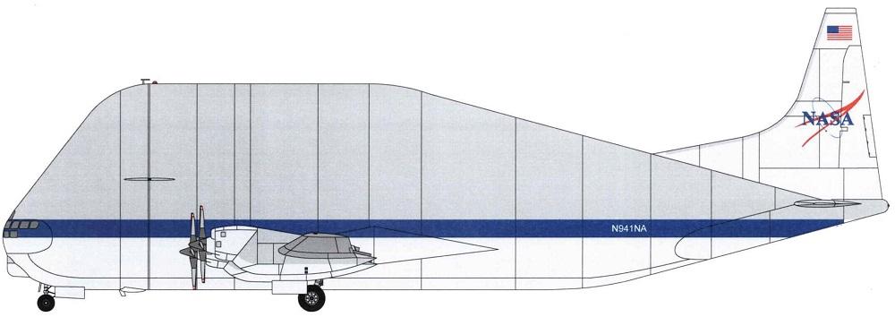 Profil couleur du Aero Spacelines B377SG Super Guppy