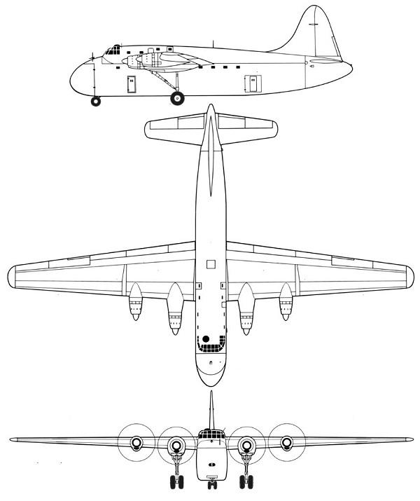 Plan 3 vues du SNCAC NC.211 Cormoran