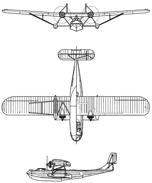 Plan 3 vues du Martin P3M