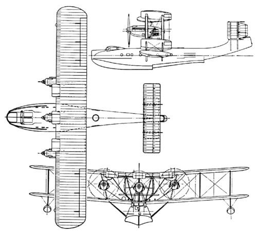 Plan 3 vues du Blackburn RB-3 Perth