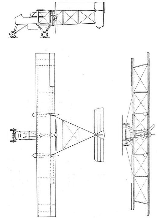 Plan 3 vues du Voisin Type VIII / Type X