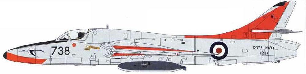 Profil couleur du Hawker Hunter Trainer