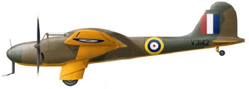 Profil couleur du Boulton Paul P.92/2