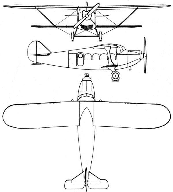 Plan 3 vues du Breguet Br.26
