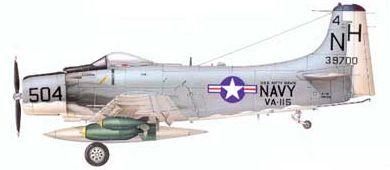 Profil couleur du Douglas A-1 Skyraider