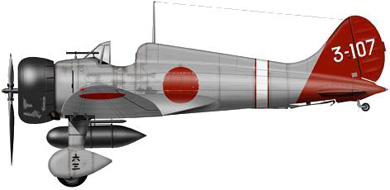 Profil couleur du Mitsubishi A5M  'Claude'