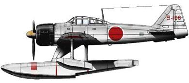 Profil couleur du Nakajima A6M2-N  'Rufe'