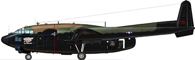 Profil couleur du Fairchild AC-119 Shadow / Stinger