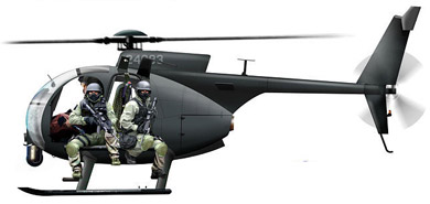 Profil couleur du MD Helicopter AH-6/MH-6 Little Bird
