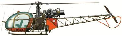Profil couleur du Sud-Est SE.313 Alouette II
