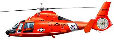 Profil couleur du Aérospatiale AS.365 Dauphin 2