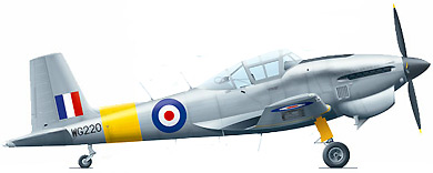 Profil couleur du Boulton Paul P-108 Balliol / Sea Balliol