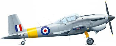Profil couleur du Boulton Paul P-108 Balliol / Sea Balliol