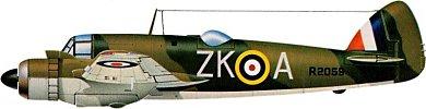 Profil couleur du Bristol  Beaufighter