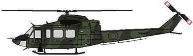 Profil couleur du Bell 412 / CH-146 Griffon