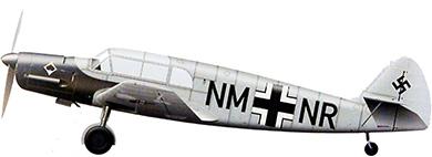 Profil couleur du Messerschmitt Bf 108 Taifun