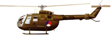 Profil couleur du M.B.B. Bö 105