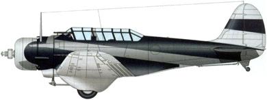 Profil couleur du Northrop BT-1