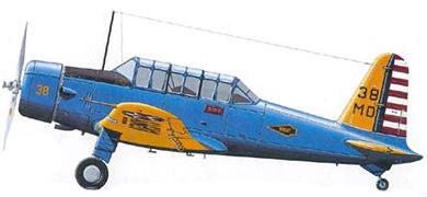Profil couleur du Vultee BT-13 / SNV Valiant