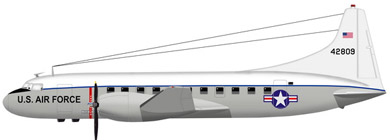 Profil couleur du Convair C-131 Samaritan