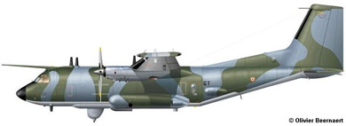Profil couleur du Transall C.160G Gabriel