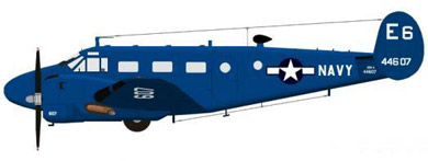 Profil couleur du Beechcraft C-45 Expeditor